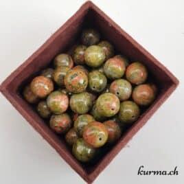 Unakite – Perles 10mm – N°9223