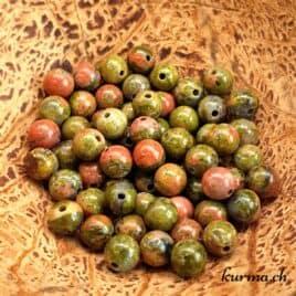 Unakite – Perles 6-6.5mm – N°9220