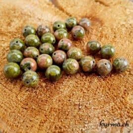 Unakite – Perles 8.5-9mm – N°9221