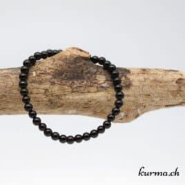 Bracelet Obsidienne larmes d'Apache 4mm