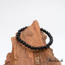 Bracelet Obsidienne Larme d'apache – 6mm – N°9260