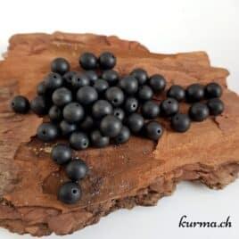 Perles en Tourmaline noire mate 8mm