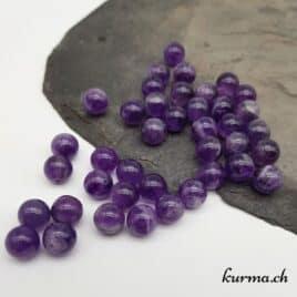 Améthyste – Perles 10-10.5mm – N°9245