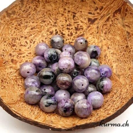 Perles en Charoïte 10mm