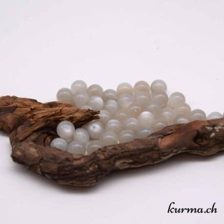 Perles pierre de lune grise 10mm