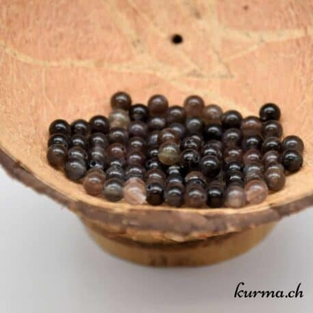perles pierre de lune noire 4mm