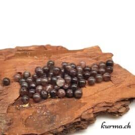 Pierre de lune noire – Perles 6mm – N°9183