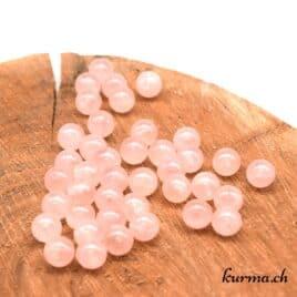 perles quartz rose 11mm