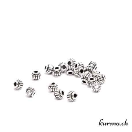 rondelle rainurée pour bijoux