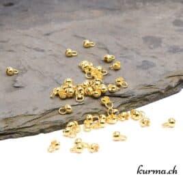 oeillet à pince doré