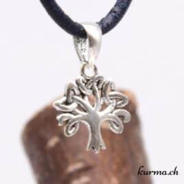 Pendentif arbre de vie celtique – Argent 925 patiné – N°9305