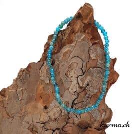 Bracelet Apatite bleue facette 3mm
