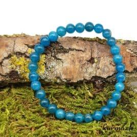 Bracelet Apatite bleue - 6mm