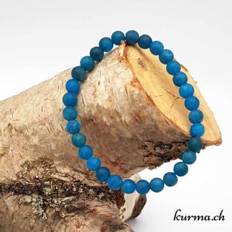 Bracelet Apatite bleue mate 6mm