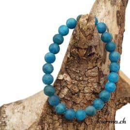 Bracelet Apatite bleue mate 8mm