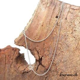 Chaine boule en argent 925 – 45cm rhodié