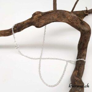 chaine corde argent