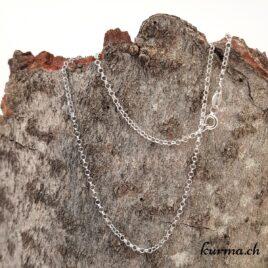 Chaine Forçat en argent 925 – 38cm rhodié