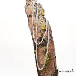 Chaine Gourmette en argent 925 – 55cm