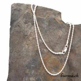 Chaine Torsadée en argent 925 – 45cm