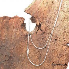 Collier serpent fin en argent 925 – 90cm
