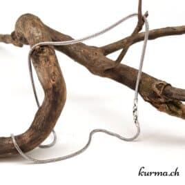 Chaine Serpent rond en argent 925 – 42cm rhodié