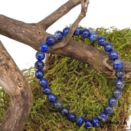 bracelet lapis-lazuli 7mm