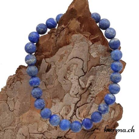 Bracelet Lapis-Lazuli mate 7mm