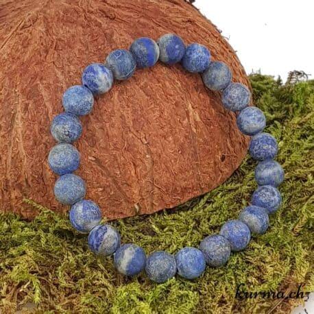 bracelet lapis-lazuli mate 8mm
