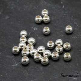 Perle ronde 5mm argent 925
