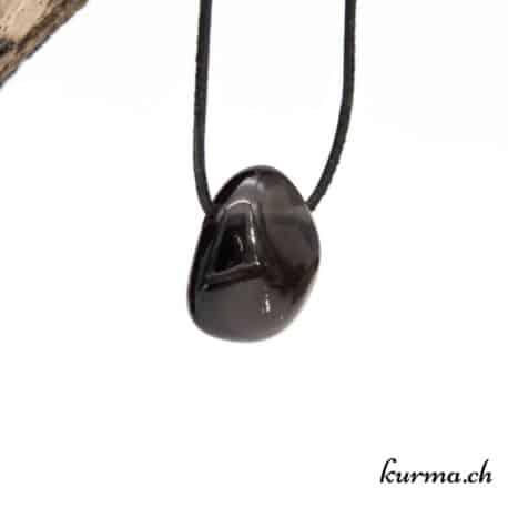 Obsidienne larmes d'Apache en collier