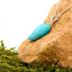 Amazonite pendentif pour femme en argent