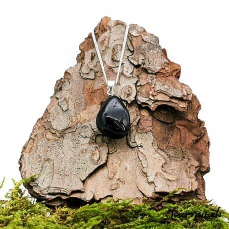 Tourmaline noire collier en argent