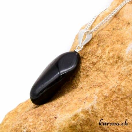 Tourmaline noire pendentif en argent