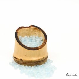 Perles Aigue-marine mate 4mm