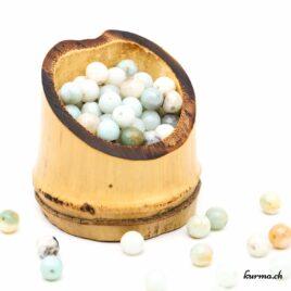 Perles Amazonite facette 6mm