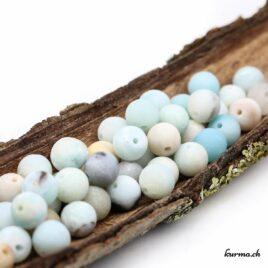 Perles Amazonite mate 9mm