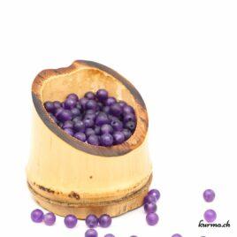 Perles Améthyste mate 5mm