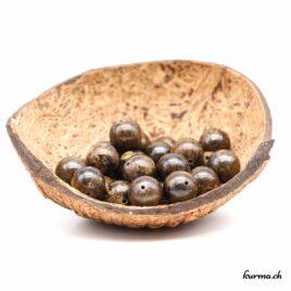 Perles Bronzite 12mm