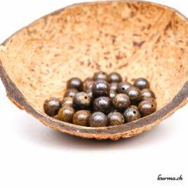 Perles Bronzite 9mm