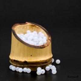 Perles Calcédoine bleue mate 4mm