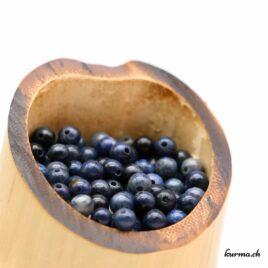 Perles Dumortiérite 4mm