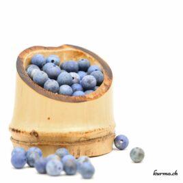 Perles Dumortiérite mate 6mm
