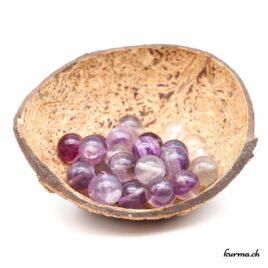Perles Fluorite Arc-en-ciel 12mm