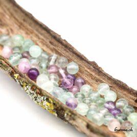 Perles Fluorite Arc-en-ciel 6mm