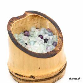 Perles Fluorite mate 4mm