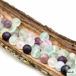 Perles Fluorite mate 8mm