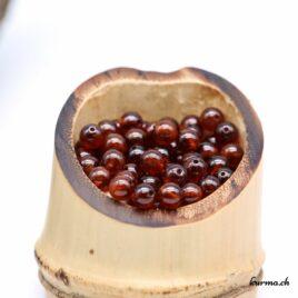 Perles Grenat Hessonite 5mm