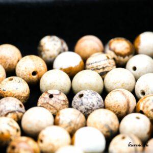 Perles Jaspe paysage 8mm