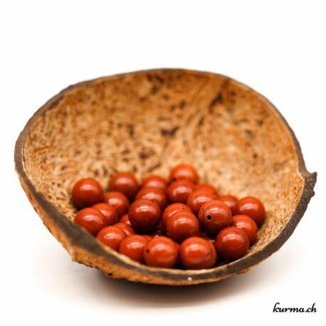 Perles Jaspe rouge 11mm